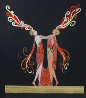 Kiss Of Fire AP 1983 Limited Edition Print -  Erte