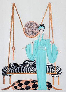 Pillow Swing 1986 Limited Edition Print -  Erte