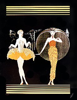 Morning Day, Evening Night Suite of 2 1985 Limited Edition Print -  Erte