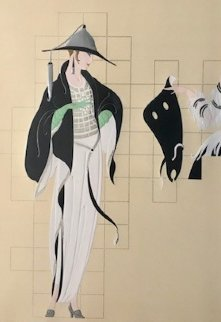 Haute Couture High Dress 1987 Limited Edition Print -  Erte