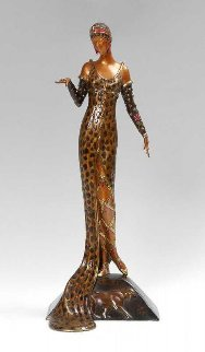 Julietta Bronze Sculpture AP 1987 18 in Sculpture -  Erte