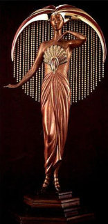 Le Soleil Bronze Sculpture 1983 17 in Sculpture -  Erte