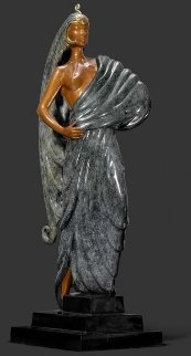 Beauty And the Beast Bronze Sculpture 1982 16 in Sculpture -  Erte