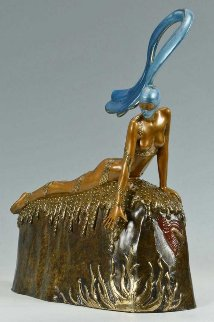 French Rooster Bronze Sculpture 1987 15 in Sculpture -  Erte