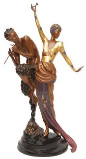 Woman And Satyr Bronze Sculpture 1986 26 in Sculpture -  Erte