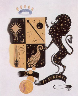 Zodiac Suite: Leo  1982 Limited Edition Print -  Erte