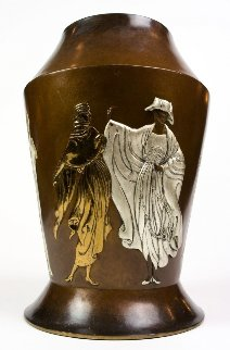 Celebration Objets D'art Bronze  Vase 1986 17 in Sculpture -  Erte