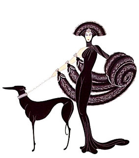 Symphony in Black 1980 Limited Edition Print -  Erte