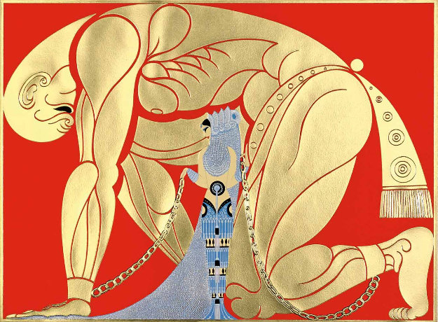 Samson And Delilah 1982 by  Erte