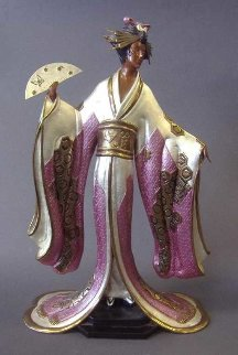 Madame Butterfly Bronze Sculpture 1990 20 in Sculpture -  Erte
