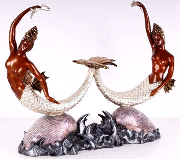 Sirens Bronze Sculpture AP 1988 16 in Sculpture -  Erte