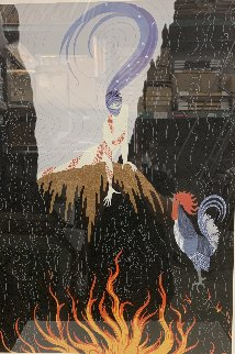 French Rooster PP Limited Edition Print -  Erte