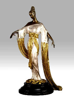 Negligee Bronze Sculpture 1984 17 in Sculpture -  Erte