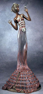 Fantasia Bronze Sculpture 1988 21 in Sculpture -  Erte