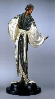 Belle De Nuit Bronze Sculpture 1987 18 in Sculpture -  Erte
