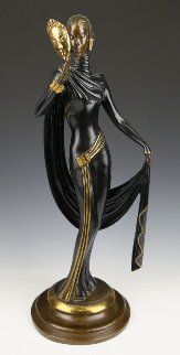 La Masque Bronze Sculpture 1986 19 in Sculpture -  Erte
