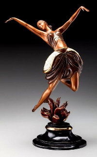 La Danseuse Bronze Sculpture 1985 14 in Sculpture -  Erte
