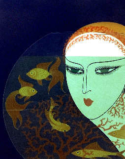 Fishbowl: Twenties Remembered Again Suite 1978 Limited Edition Print -  Erte