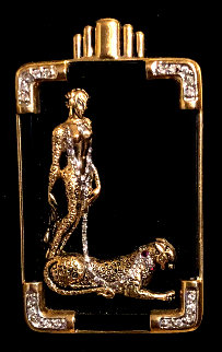 Letter L Brooch 5 in Jewelry -  Erte