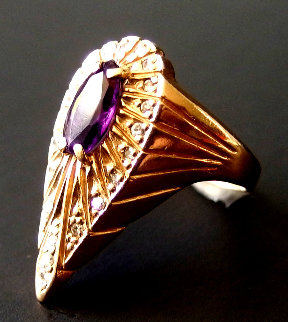 Peacock Gold Ring 1990 Jewelry -  Erte