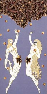 Adam and Eve 1982 Limited Edition Print -  Erte