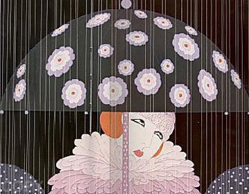 Spring Showers 1984 Limited Edition Print -  Erte