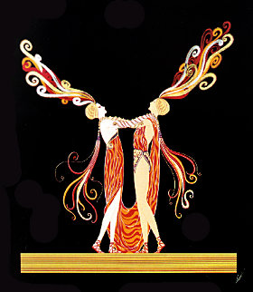 Love and Passion Suite of 2 Limited Edition Print -  Erte