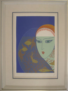 Fish Bowl 1977 Limited Edition Print -  Erte