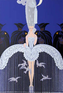 Her Secret Admirers 1982 Limited Edition Print -  Erte