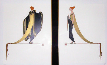 Ready for the Ball, Diptych 1982 Limited Edition Print -  Erte