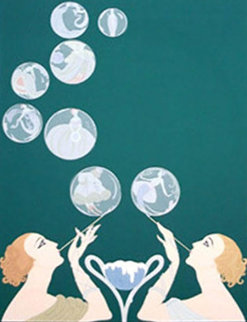 Bubbles 1981 Limited Edition Print -  Erte