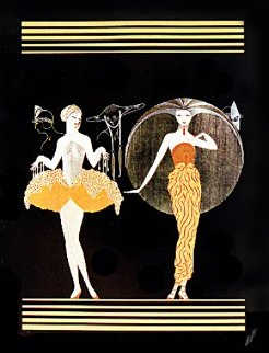 Morning Day/Evening Night Suite 1982 Limited Edition Print -  Erte