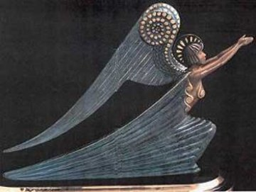 Angel Bronze Sculpture AP 1985 Sculpture -  Erte