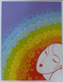 Rainbow in Blossom 1977 Limited Edition Print -  Erte
