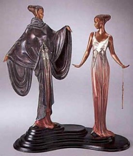 Dream Birds Bronze Sculpture 1988 17 in Sculpture -  Erte