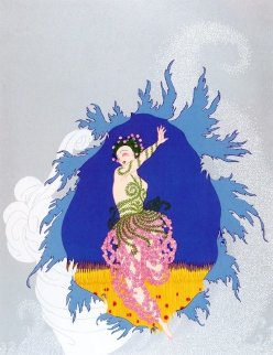 Coming of Spring AP 1982 Limited Edition Print -  Erte