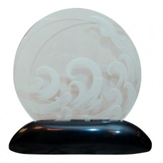 Wave Glass  Lumiere Sculpture -  Erte