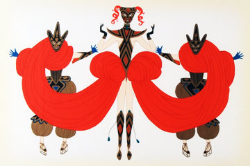 Carnival 1986 Limited Edition Print -  Erte