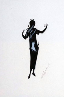 Design For Harper's Bazaar 1925 Original Painting -  Erte