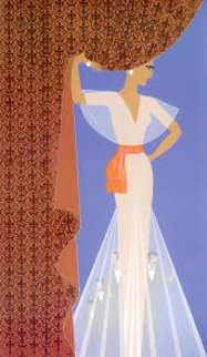 Curtain 1977 Limited Edition Print -  Erte
