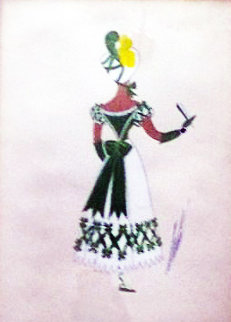 Costume Purported to Be For Gone With the Wind Original Painting -  Erte