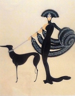 Symphony in Black from Theatre St. AP 1983 Limited Edition Print -  Erte