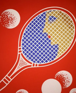 Tennis 1970 Limited Edition Print -  Erte