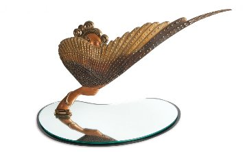 Coquette Bronze  Table Mirror 1985 Sculpture -  Erte