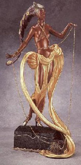 Pleasure of the Courtesan Bronze Sculpture 1990 Sculpture -  Erte