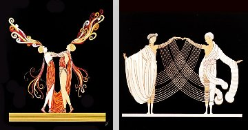 Love and Passion Suite of 2 1983 Limited Edition Print -  Erte