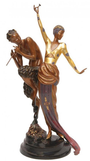 Woman And Satyr Bronze Sculpture 1985