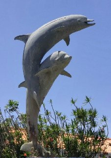 Dolphin Life Size Bronze   Sculpture  1991 84 in   Sculpture - Dale Evers