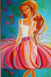 Beauty and the Beach 2010 48x24 Original Painting - Alina Eydel
