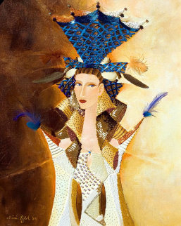 Blue Crown 2004 36x30 Original Painting - Alina Eydel